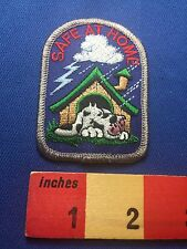 Fun Cute Dog In Doghouse Sleeping In Lightning Storm Patch ~ SAFE AT HOME 73X0