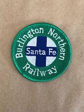 "Vtg Burlington Northern Railway Santa Fe Embroidered Sew On Patch 2.5"" Badge"