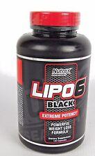 Nutrex Lipo 6 Black Extreme Potency Weight Loss Fat Burner - 120 capsules Lipo6