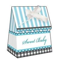 Baby Shower Sweet Baby Feet Blue Favor Bags w/Ribbon 12 Per Pack