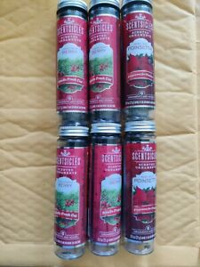 4 Scentsicles Christmas Berry and 2 poinsettia Smells Fresh Cut 48 Count.