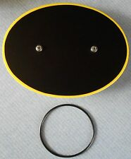 SUZUKI RM80 RM 80 NEW YELLOW # PLATE WITH BLACK BACKGROUND VINTAGE MOTOCROSS