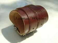 Leather Wrist Band Braun Real Leather Bracelet Leather Wristband