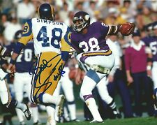 Bill Simpson Signed 8x10 Photo Picture Los Angeles Rams White Jersey #48 Auto'd