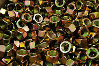 (75) 5/8-18 Grade 8 Hex Finish Nuts - Yellow Zinc Plated - Fine Thread