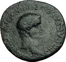 CALIGULA & GERMANICUS 37AD Very Rare KNOSSOS Crete Ancient Roman Coin i58460