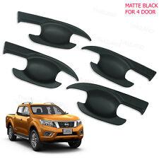 2012 - 17 Door Handle Bowl Insert Cover Matte Black 4 Pc At Nissan Np300 Navara