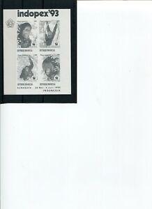1983 WWF INDONESIA Orangutan Black Print O/P INDOPEX'93 IMPERF. MNH POSTFREE