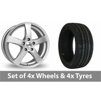 """4 x 15"""" Dezent RE Silver Alloy Wheel Rims and Tyres -  185/55/15"""