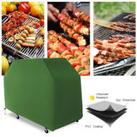 Telo Copri Copertura Barbecue Impermeabile Protezione Bbq 150x100x125cm Verde