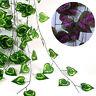 Plastic Ivy Leaf Garland Green Plant Vine Foliage Home Garden Decoration 7.87FT