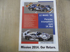 PORSCHE Postkarte Mission 2014 Our Return Nr. 11 SR318