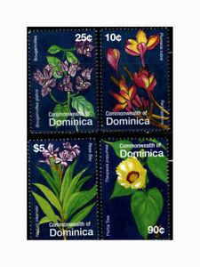 Dominica, Sc #2625-28, MNH, 2007, FLOWERS, FLORA, PLANTS, SHI-C