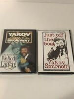 Yakov Smirnoff Lot of 2 DVD Live On Broadway Just off the Boat Brand New Sealed