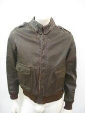 Vintage WWII A-2 Leather Flight Jacket Talon Bell Zipper Size 40