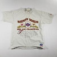 VTG 90s Nutmeg Mills Washington Redskins 1991 Superbowl XXVI Graphic Tee LARGE