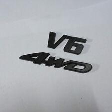 Matte Black V6 + 4WD Metal Badge Emblem Sticker suv Engine Driven Limited Sport
