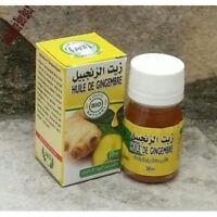 Huile de Gingembre 100% Pure et Naturelle 30ml Ginger Oil Aceite de Jengibre