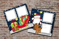 Christmas Santa Rudolph Snow 2 PRINTED Premade Scrapbook Pages BLJgraves 65