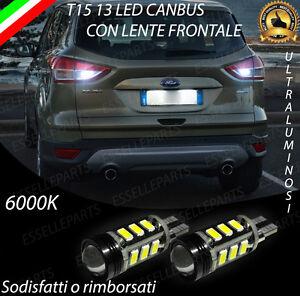 LAMPADE RETROMARCIA 13 LED T15 W16W CANBUS PER FORD KUGA 2 II 6000K NO ERROR