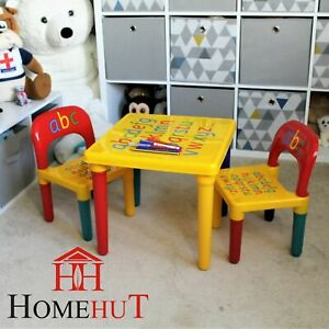 kids furniture Table Chair bedroom dining room lounge dinner play bright plastic