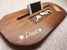 Handmade personalised iPhone Tray In Walnut.