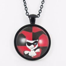 HARLEY QUINN BUST NECKLACE batman emo scene dc joker comic suicide squad glass