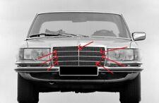 Fit For Mercedes Benz W116 Grill Moulding trim set 7 Pcs Alu 200 S 280SE 280SEL