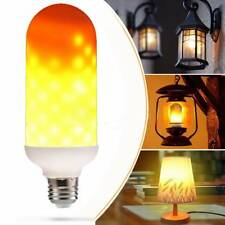 LED Flame Effect Fire Light Bulb E27 Simulated Nature Flicking Lamp //