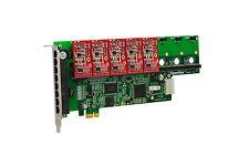 OpenVox A800E05 8 Port Analog PCI-E Base card + 0 FXS + 5 FXO, Ethernet (RJ45)