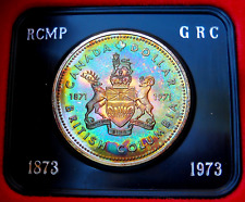 Neon Turquoise 1971 Canada Silver Dollar