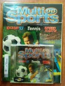 Multi Sports 98 PC CD-Rom New Sealed KickOff'97 Elbw Tennis Speed Haste Portugal
