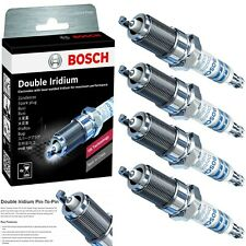 4 Bosch Double Iridium Spark Plugs For 2014-2019 NISSAN ROGUE L4-2.5L