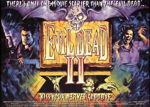 """THE EVIL DEAD II 2 1981 HORROR Hi Quality repro quad poster 30x40"""" FREE P&P"""