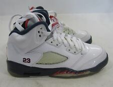 "Nike Air Jordan 5 Retro (Gs) ""Olympic 440888 103 2011 White, Varsity Red Size 4Y"