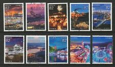 JAPAN 2018 JAPANESE NIGHT VIEWS SERIES NO. 5 COMP. SET OF 10 STAMPS IN FINE USED