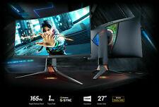 "Curved Gaming 165Hz Asus ROG Swift PG27VQ 27"" WQHD Monitor 2560x1440 1ms G-Sync"