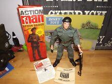 VINTAGE ACTION MAN SOLDIER BOXED FLOCKED HAIR  FIGURE ORIGINAL 34014