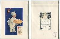1 CHRISTMAS COOK TEA CUP CANDY CARD 1 MINCEMEAT PIE JAM BAKER THANKSGIVING PRINT