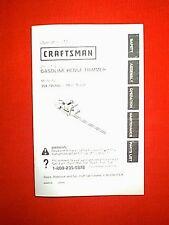 """CRAFTSMAN GASOLINE 22"""" HEDGE TRIMMER MODEL 358795660 OWNER PARTS MANUAL 12/2000"""