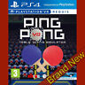 PING PONG VR Table tennis simulator - PlayStation 4 PS4 ~3+ Brand New & Sealed!