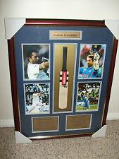 Sachin  TENDULKAR  ..  Indian batsman  ...  signed & framed cricket bat  ..  NEW