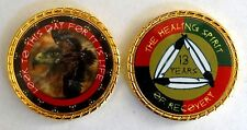 """Alcoholics Anonymous 14 Year Native American Rope Edge Sobriety Coin Chip 1 3/4"""""""
