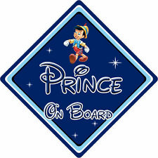 Disney Prince On Board Car Sign - Baby On Board - Pinocchio DB