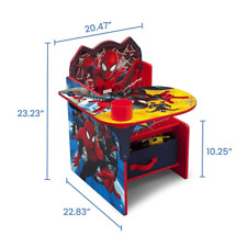 Spider-Man Kids Table Desk And Chair with Storage Bin Box Set For Boys Girls