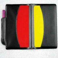 Schiedsrichter-Set schwarz Schiedsrichtermappe rote und gelbe Karte Super. Q9L8