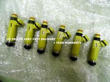 MAZDA RX8 MX5 YELLOW FUEL INJECTOR SET OF 6 DENSO 195500-4450 1 YEAR WARRANTY