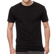 1 x Mens Plain 100% Cotton Blank T-shirt Tee Black Bulk Cheap Wholesale Tee