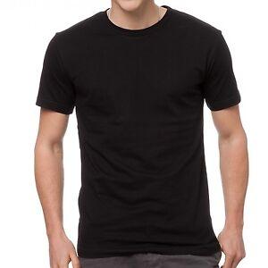 1 X Mens Plain 100% Cotton Blank T-shirt Tee Black CrewNeck Cheap Wholesale AUS