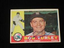 1960 Topps Bob Turley NY Yankees Signed Baseball Card - Card #270 - EX